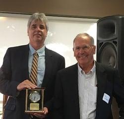 Brad Starkey, outgoing board chair, & Dr. Peter Maynard, current board chair RESIZEDjpg