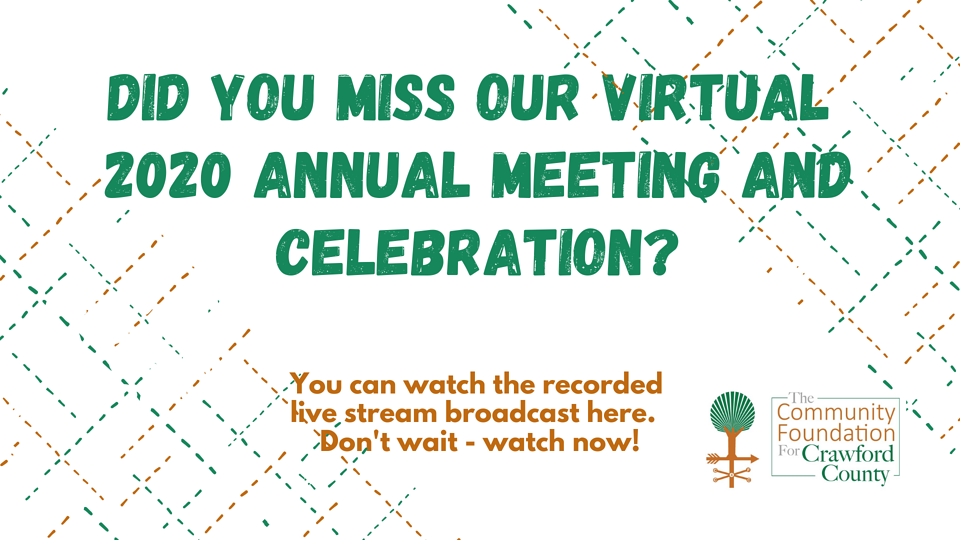 Watch our recorded virtual 2020 TCF4CC Annual Meeting & Celebration