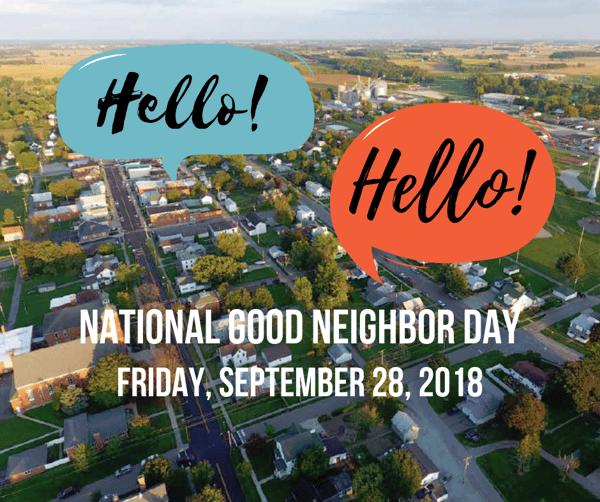 2018 National Good Neighbor Day New Washington