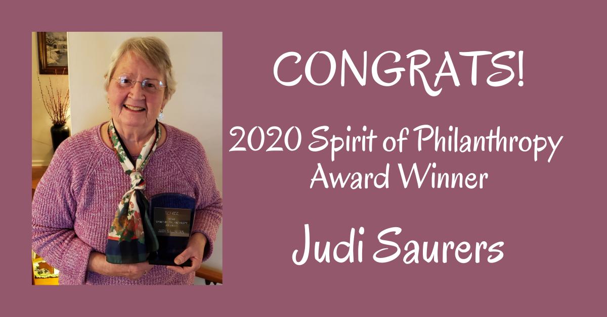 2020 Spirit of Philanthropy Award Winner_ Judi Saurers