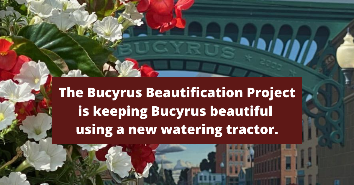 Bucyrus Beautifcation Project-new tractor