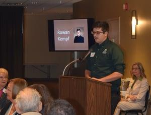 Rowan Kempf speaking at Annual Meeting