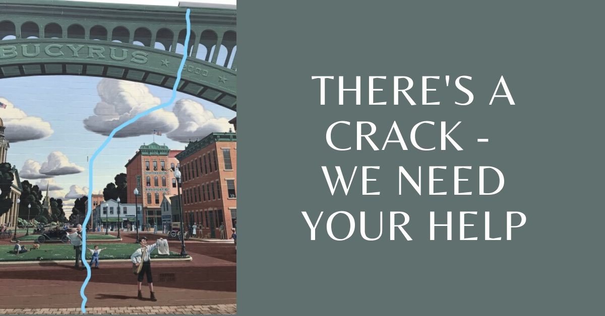 Theres a crack - We need your help