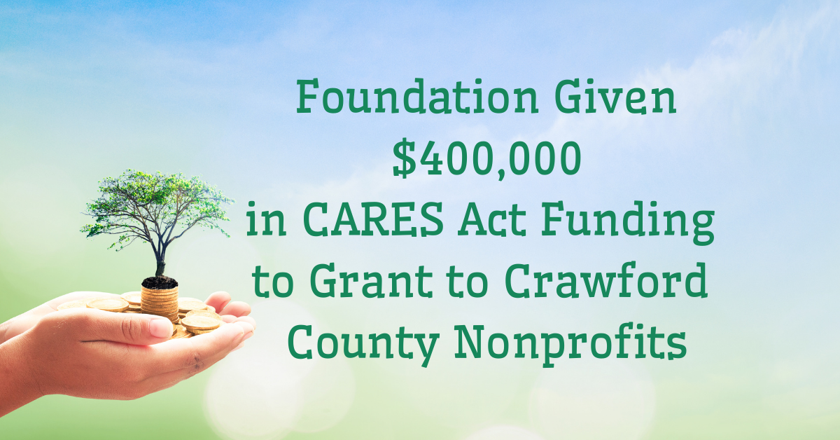 2020 Foundation Given $400,000 in CARES Act Funding to Grant to Crawford County Nonprofits Facebook Ad