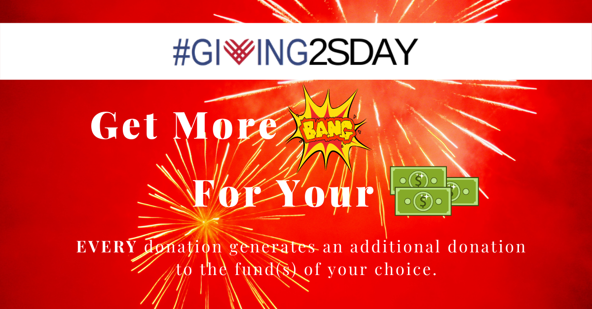 2020 #Giving2sday More Bang for your Buck Fackbook Ad