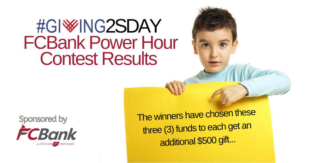 2020 #Giving2sday Power Hour Contest RESULTS Facebook Ad