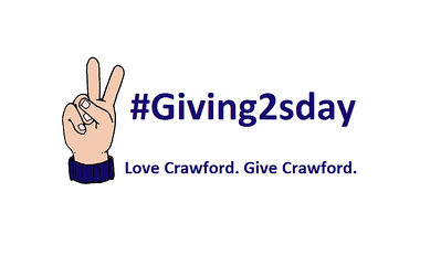 V Sign with Giving2sday & Love Crawford. Give Crawford