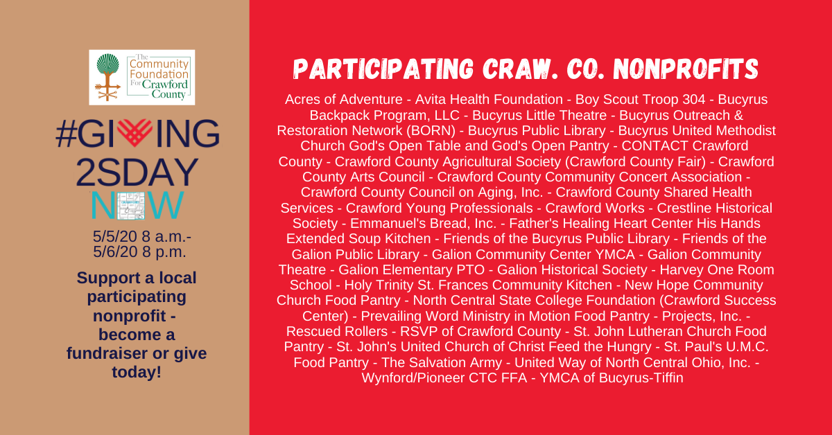 #Giving2sdayNow List of Participants