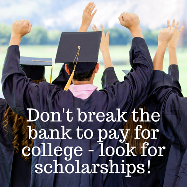Don't break the bank to pay for college - look for scholarships! pic