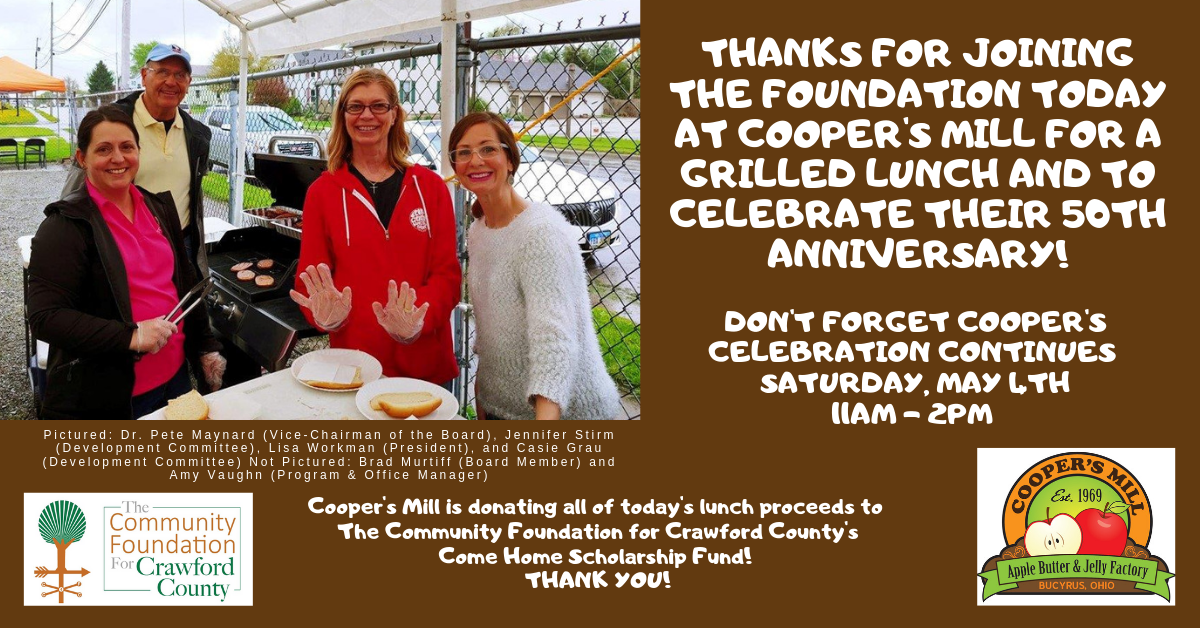 Thanks for joining us at Cooper's 50th Anniversary Celebration