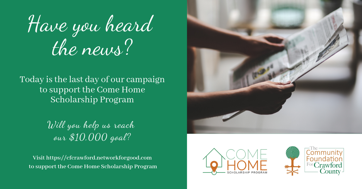 Come Home Scholarship Ad8-Tue