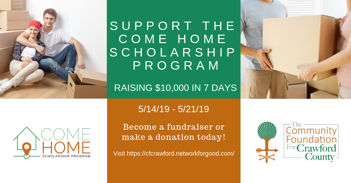 Support the Come Home Scholarship Program - Become a fundraiser or make a donation today! Ad1