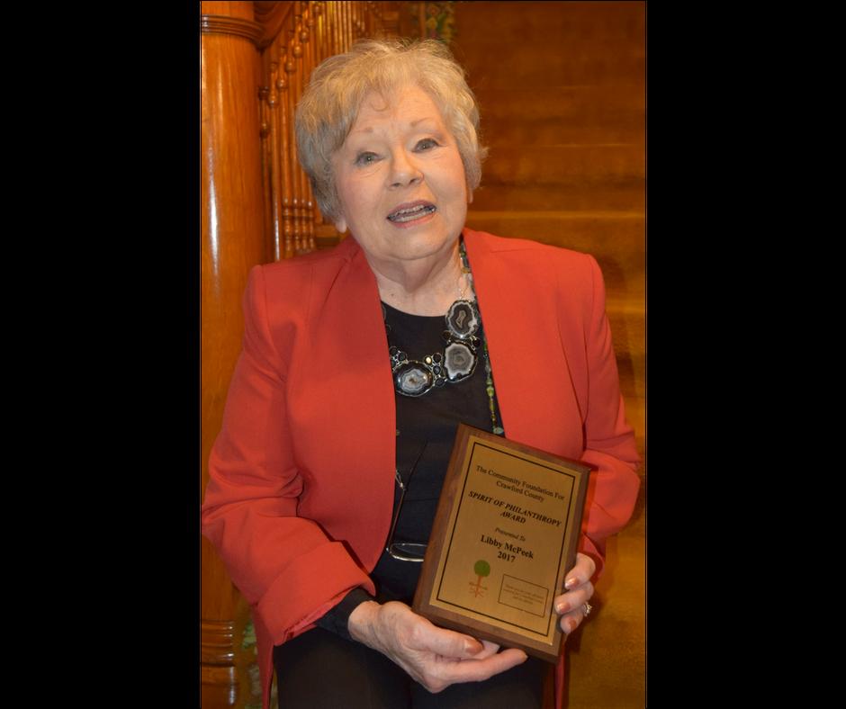 2017 An Evening of Philanthropy Spirit of Philanthropy Award Winner, Libby McPeek
