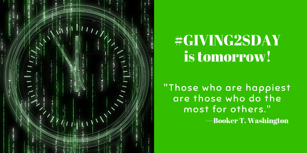 #Giving2sday 2018 is tomorrow