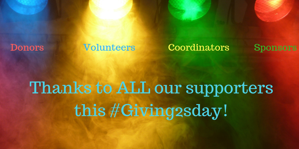 2018 #Giving2sday Thanks to our supporters