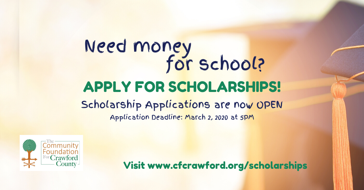 Scholarship Applications are now OPEN