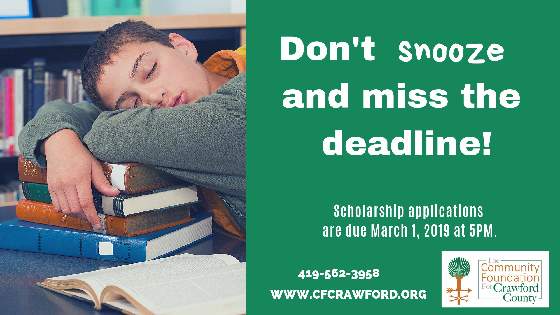 Scholarship Deadline 2019
