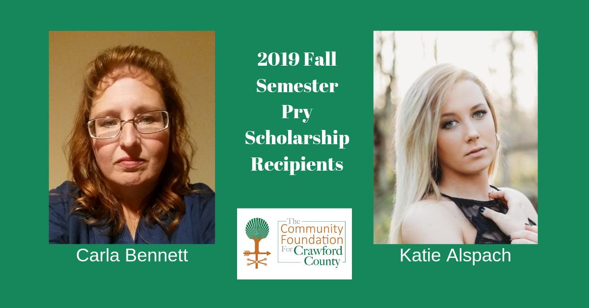 2019 Fall Semester Pry Scholarship Winners